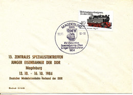 Germany DDR Cover 13-10-1984 German Association Of The DDR Modelrailroad Magdeburg - [6] Democratic Republic