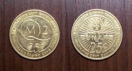 CASINO CUNARD Ship Queen Mary 2 RWM 25¢ TOKEN SLOT GAMING MACHINE GAME JETON GETTONE Metal Brass Ø24,9mm - Casino