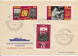 Germany DDR Ship Cover TMS Fritz Heckert 21-4-1966 - [6] Democratic Republic