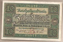 Germania - Banconota Circolata Da 10 Marchi P-67A/1 - 1920 - [ 3] 1918-1933 : Weimar Republic