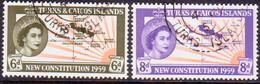 TURKS AND CAICOS ISLANDS 1959 SG #251-52 Compl.set Used - Turks And Caicos