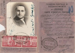 Tessera Postale - Coppia 100 Lire Democratica - Danneggiata - Collections