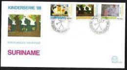 Surinam / Suriname 1988 FDC 128 Kind Child Kinder Enfent - Suriname