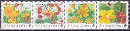Série De 4 Timbres-poste Gommés Neufs** - Fleurs De Singapour - N° 907A-908A-909A-910A (Michel) - Singapour 1998 - Singapore (1959-...)