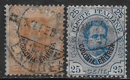 Italia Italy 1895 Colonie Eritrea Umberto I 2val Sa N.16-17 US - Eritrea