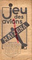 75- PARIS- JEU DES AVIONS MAIZENA -CARTE DE FRANCE AERONAUTIQUE-AVIATION- AEROPORT-STE PRODUITS DU MAIS-29 RUE BERRI - Documents Historiques