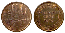 01130 GETTONE TOKEN JETON COMMEMORATIVE LUCKY TOKEN MUNCHEN GLUCKS CENT 2000 - Allemagne