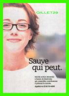ADVERTISING - PUBLICITÉ - SUICIDE ACTION MONTRÉAL - SAUVE QUI PEUT - ZOOM MÉDIA - - Publicité