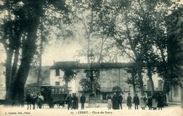 CERET Place Du Barry Superbe Car Avec Véhicule Hippomobile - Ceret