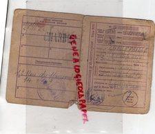 19- CORREZE-CARTE INDIVIDUELLE D' ALIMENTATION -LEONTINE CHAUFFAILLE -CHARBON- IVRY SUR SEINE -1946 - Documents Historiques