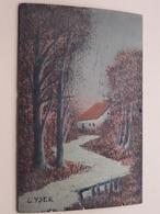 PAINTING On WOOD ( 20,5 X 13 Cm.) Belgique L'YSER ( Sign....VVIL.... ) Anno 19?? ( Zie/voir Photo ) ! - Autres Collections