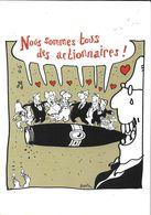ILLUSTRATEUR PLANTU  POLITIQUE  5/3/2001 LES FRANCAIS ET LES STOCK-OPTIONS CIGARE HUMOUR - Plantu