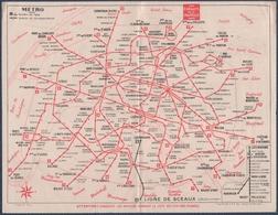 Metro.Plan Du Métropolitain.Aux Enfants De La Chapelle. - Europe