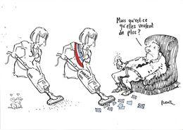 ILLUSTRATEUR PLANTU  POLITIQUE  08/03/2001 8/03/2001 PARITÉ POLITIQUE DISPARITÉ DOMESTIQUE HUMOUR - Plantu