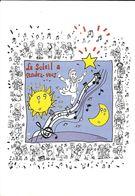 ILLUSTRATEUR PLANTU SPECTACLE MUSIQUE 20/02/2001 L'ADIEU DE CHARLES TRENET HUMOUR  SOLEIL LUNE CHANSON - Plantu