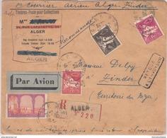 Algérie 1er Courrier Aérien Alger – Zinder Du 14/03/1933 Aviation Militaire AOF Sous Le Commandement Du Capitaine - Air Post