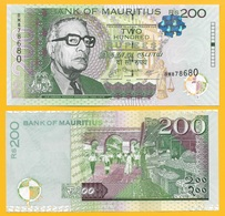 Mauritius 200 Rupees P-61a 2010 UNC - Maurice