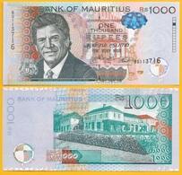 Mauritius 1000 Rupees P-63b 2016 UNC - Mauritius