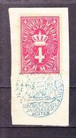 Dokumentenstueck, Bayern Gebuehrenmarke, 4 Mark (50093) - Gebührenstempel, Impoststempel