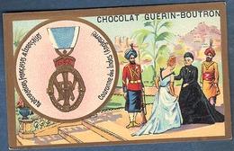 Chromo Chocolat Guerin-Boutron Décorations Françaises Et étrangères Couronne Des Indes Angleterre Reine Victoria - Guérin-Boutron