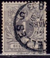 Belgium, 1884, Lying Lion, 1c, Sc#50, Used - 1869-1888 Lying Lion