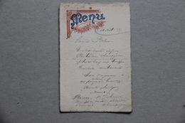 Menu 1894 - Menus