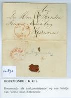 BRIEFOMSLAG Uit 1862 Gelopen Van VENLO Naar ROERMOND (16.893) - Periode 1852-1890 (Willem III)