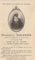 IMAGE PIEUSE DECES MARGUERITE DESLANDES 6 ANS A SAINT AUBIN DES BOIS CALVADOS - Images Religieuses