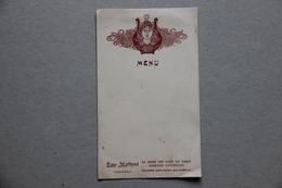 Menu Vierge, Eau Mattoni (Carlsbad, République Tchèque) - Menus