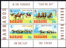 Barbados 1969 Horse Racing Souvenir Sheet Unmounted Mint. - Barbados (1966-...)
