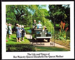 Barbados 1985 Queen Mother Souvenir Sheet Unmounted Mint. - Barbados (1966-...)