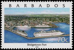 Barbados 2000 70c Bridgetown Type I Unmounted Mint. - Barbados (1966-...)