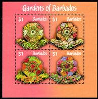 Barbados 2014 Gardens Of Barbados Souvenir Sheet Unmounted Mint. - Barbados (1966-...)