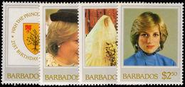 Barbados 1982 21st Birthday Of Princess Of Wales Unmounted Mint. - Barbados (1966-...)