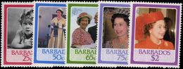 Barbados 1986 60th Birthday Of Queen Elizabeth Unmounted Mint. - Barbados (1966-...)