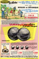 42- SAINT ETIENNE- BELLE PUBLICITE PETANQUE - BOULES INCASSABLES BIEN EQUILIBREES- COURROIE PORTE BOULES-1959 - Publicités
