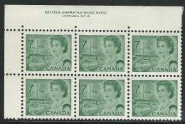 CANADA 1971 SCOTT/UNITRADE 543** PLATE BLOCK OF SIX UL - Plattennummern & Inschriften