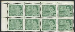 CANADA 1971 SCOTT/UNITRADE 543** BLOCK OF EIGHT - Plattennummern & Inschriften