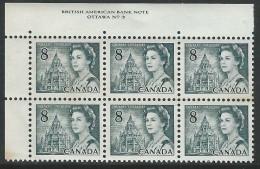 CANADA 1971 SCOTT/UNITRADE 544** PLATE 3 BLOCK OF 6 - Plattennummern & Inschriften