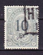 Preusz-Hess-Staatseisenbahnen, 10 Pfennig (50107) - Gebührenstempel, Impoststempel