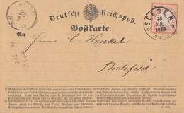 DR Karte EF Minr.14 K2 Seesen 25.7.72 Gel. Nach Bielefeld - Briefe U. Dokumente