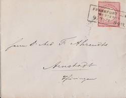 DR Brief EF Minr.25 R3 Frankfurt Westende 9.3.74 Gel. Nach Arnstadt - Briefe U. Dokumente
