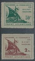 """BZ-152: FRANCE: Lot Avec N°8/9 """"poche De St Nazaire"""" Signés - Guerres"""