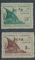 """BZ-153: FRANCE: Lot Avec N°8/9 """"poche De St Nazaire"""" Surchargés RF - Guerres"""