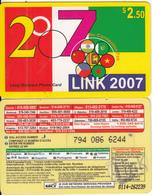 CANADA - Link 2007, MCI Prepaid Card $2.50(416-848-6887, Yellow Reverse), Used - Canada