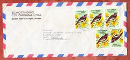 Luftpost, MeF Pompadourpurpurvogel, Bogota Nach Mainz 1977 (50111) - Colombia