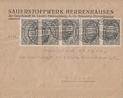 DR Brief Mif Minr.2x 251, 19x 252 Hannover-Herrenhausen 29.8.23 - Deutschland