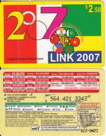 CANADA - Link 2007, MCI Prepaid Card $2.50(416-848-6789, Yellow Reverse), Used - Canada