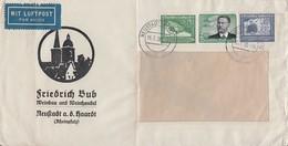DR Brief Luftpost Mif Minr.538,669,670 Neustadt15.7.38 - Deutschland
