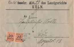 DR Ortsbrief Mef Minr.2x D90 Cöln - Dienstpost